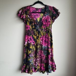 Betsey Johnson Floral Silk Dress